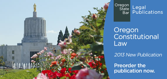 Legal Publications - Preorder Oregon Constitution Law