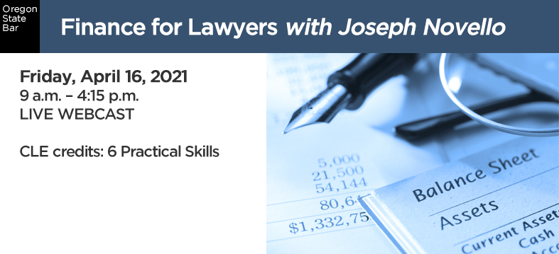 Finance for Lawyers with Joseph Novello