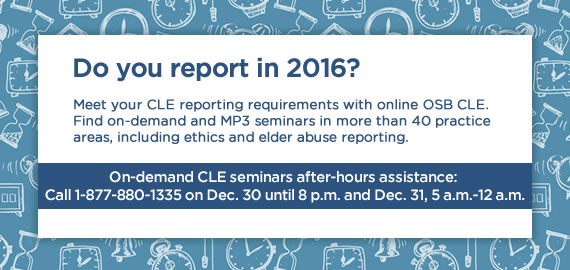 2017 MCLE Reporting Online CLE