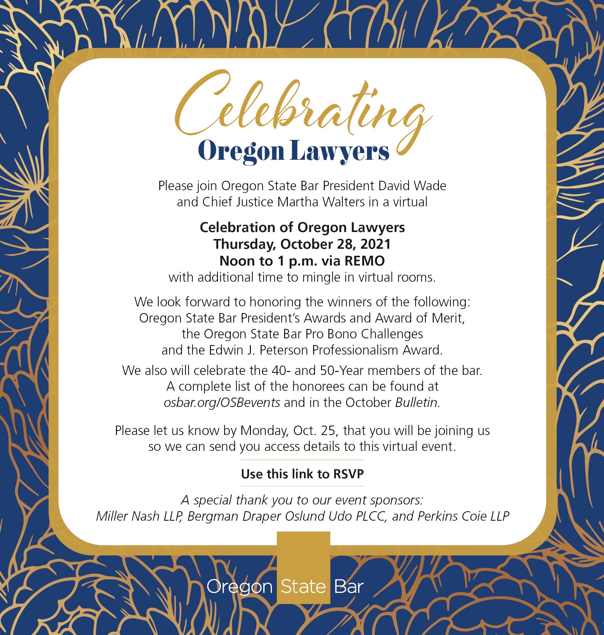 Celebrate Oregon Lawyers